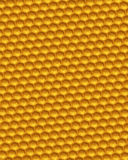 Orange honeycomb grid background 3D illustration Stock Photo