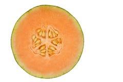 Orange honeydew melon isolated in white Royalty Free Stock Image