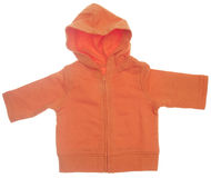 Orange Hooded Sweatshirt Stock Photography