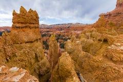 Orange hoodoo rocks in Bryce Canyon Stock Images
