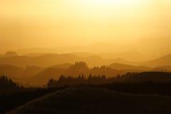 orange horisonter Arkivfoto