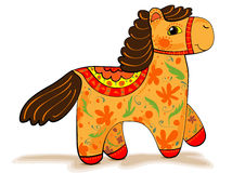 Orange horse figurine Royalty Free Stock Photos