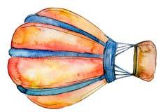 Orange Hot air balloon background fly air transport illustration. Isolated illustration element royalty free illustration