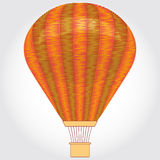 Orange Hot air balloon on a white background. Vector illustration. Stock Image