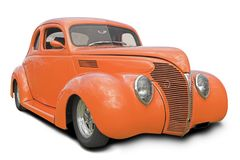 Orange Hot Rod Stock Image