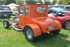 Orange Hot Rod at Convention in Salem, Oregon. This is an orange hot rod at an automotive club convention in Salem, Oregon stock image
