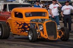 Orange Hot Rod Stock Image