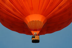 A orange hotair balloon Royalty Free Stock Images