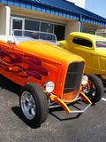 Orange Hotrod Car. With flames Royalty Free Stock Image
