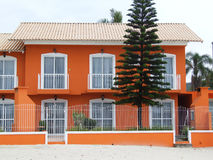 Orange house. On the beach in Brazil Royalty Free Stock Photo