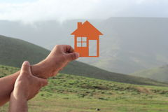 Orange house Royalty Free Stock Image