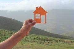 Orange house Stock Images