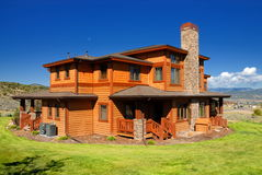Orange house in Colorado Stock Images