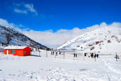 Free Orange House In The Snow Royalty Free Stock Images - 17576449