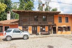 Orange house in Koprivshtitsa, Bulgaria Stock Photos