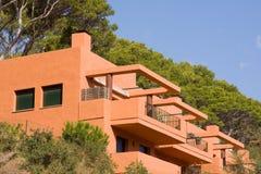 Orange houses Stock Image
