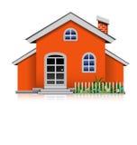 Orange hus Arkivbilder