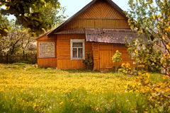 Orange hus Arkivbild