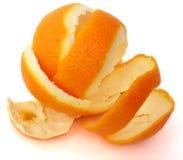 Orange husk. With white background Royalty Free Stock Photo