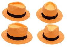 Orange Hut auf dem weißen Hintergrund lokalisiert Stockfoto