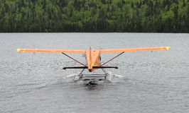 Orange hydroplane Royalty Free Stock Photos