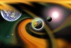 Orange hyperspace nebula. stock photography