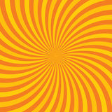 Orange hypnotic background. Vector illustration Stock Image