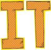 Orange I and T Stock Images