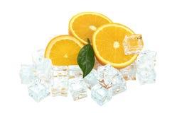 Orange and ice Royalty Free Stock Image