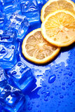 Orange and ice Royalty Free Stock Images