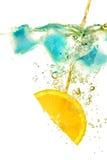 Orange ice and bubbles Stock Image