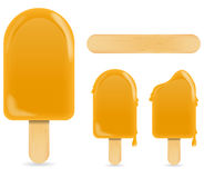 Orange ice cream Stock Photo