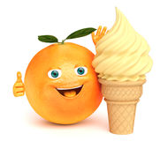 Orange ice cream Stock Photos