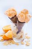 Orange ice cream sorbet Stock Photo