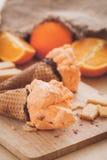 Orange ice cream sorbet Royalty Free Stock Photo