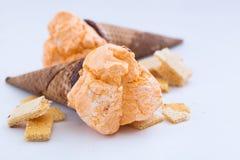 Orange ice cream sorbet Stock Image