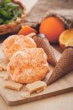 Orange ice cream sorbet Royalty Free Stock Photos