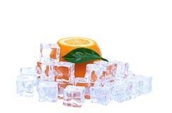 Orange and ice cubes Stock Photo