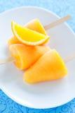 Orange ice lollies Stock Photography