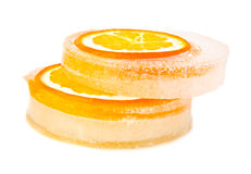 Orange and ice Royalty Free Stock Photography