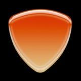 Orange icon. Blank orange icon over black background vector illustration