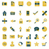 Orange icon collection Royalty Free Stock Images