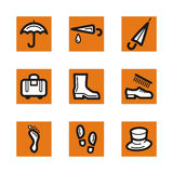 Orange icon series Royalty Free Stock Photos