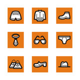 Orange icon series Stock Photos
