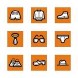 Orange icon series Stock Photos