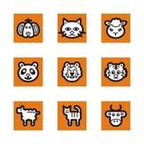 Orange icon series Stock Photo