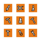 Orange icon series Stock Image