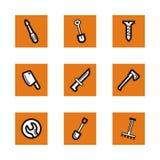 Orange icon series Stock Photography
