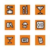 Orange icon series Stock Images