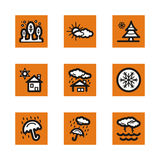 Orange icon series Royalty Free Stock Image